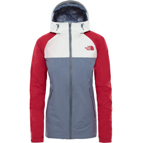 The North Face Stratos Jas Dames grijs/rood